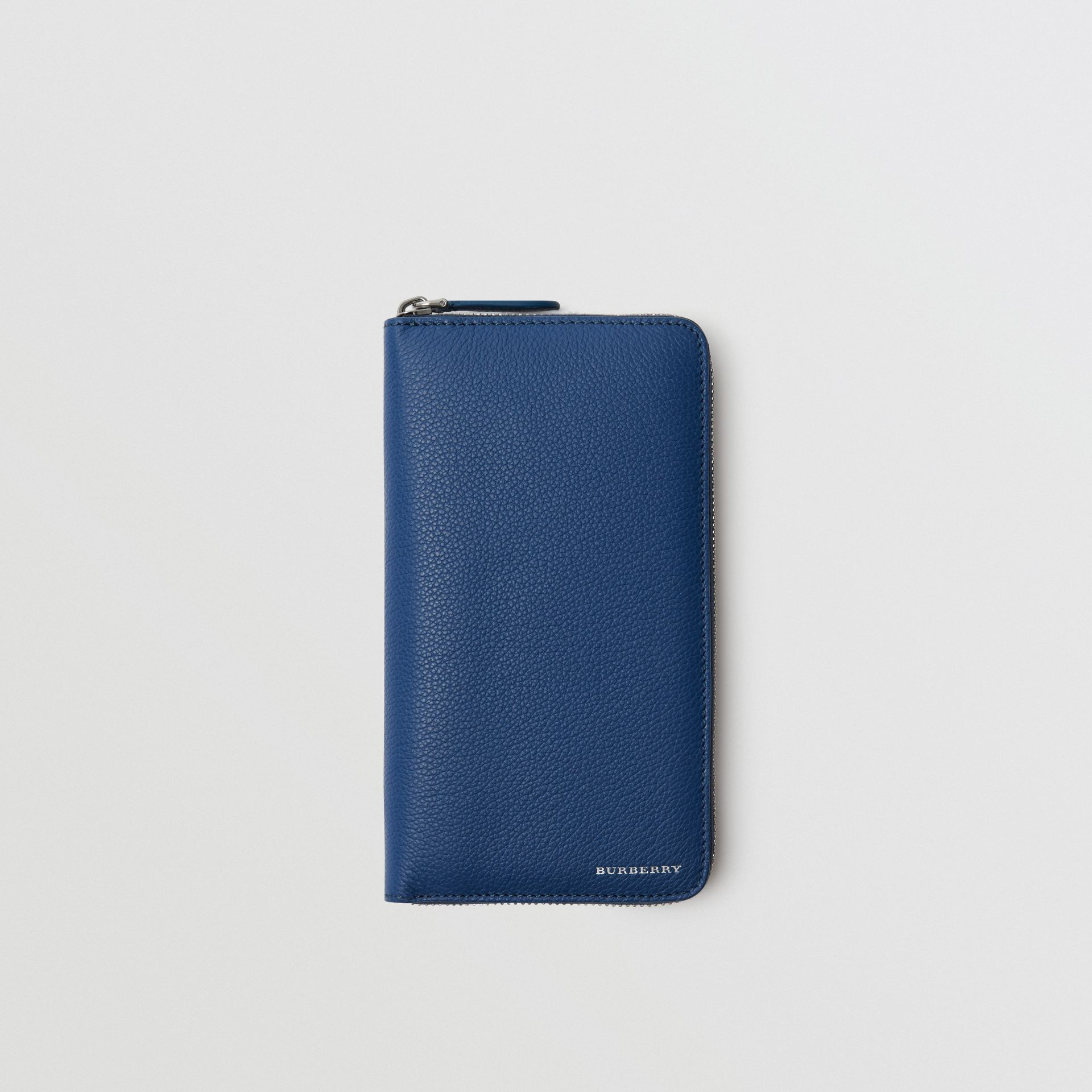 Grainy Leather Ziparound Wallet in Bright Ultramarine - Men | Burberry Hong Kong - gallery image 0