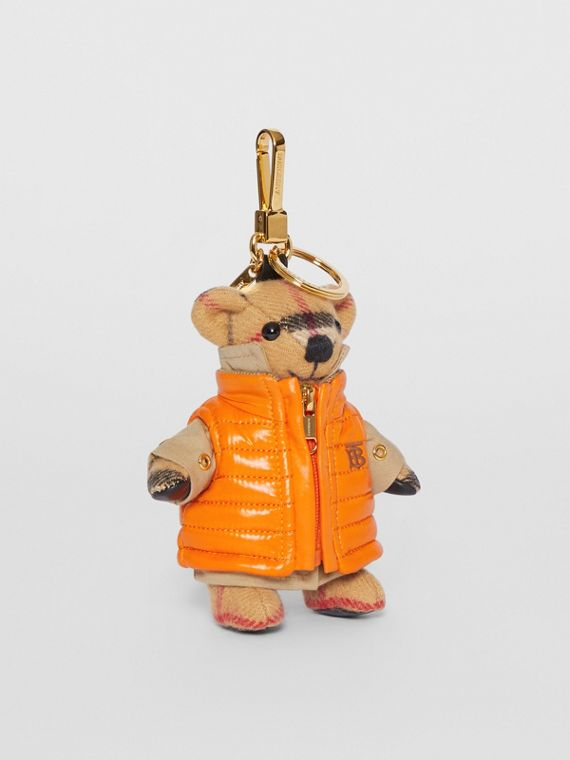 Thomas Bear Charm in Monogram Motif Gilet in Antique Yellow