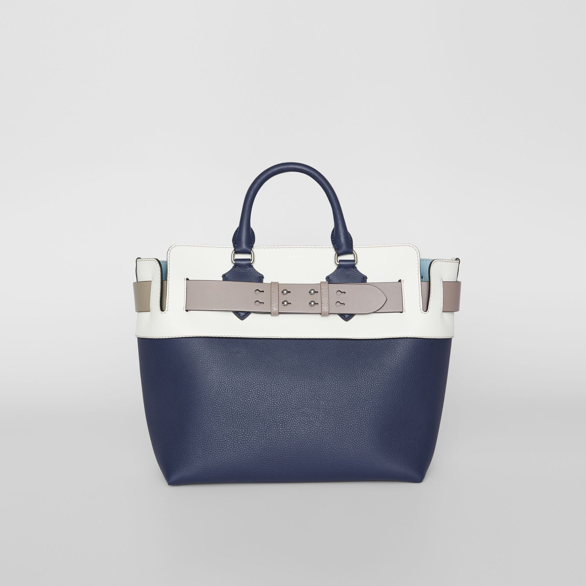 The Medium Tri-tone Leather Belt Bag in Regency Blue - Women | Burberry Singapore - gallery image 0