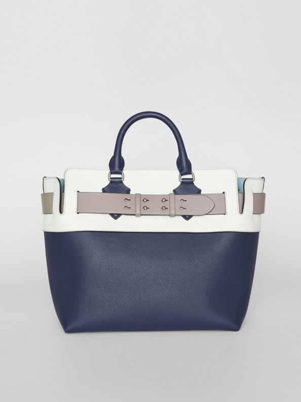 The Medium Tri-tone Leather Belt Bag in Regency Blue