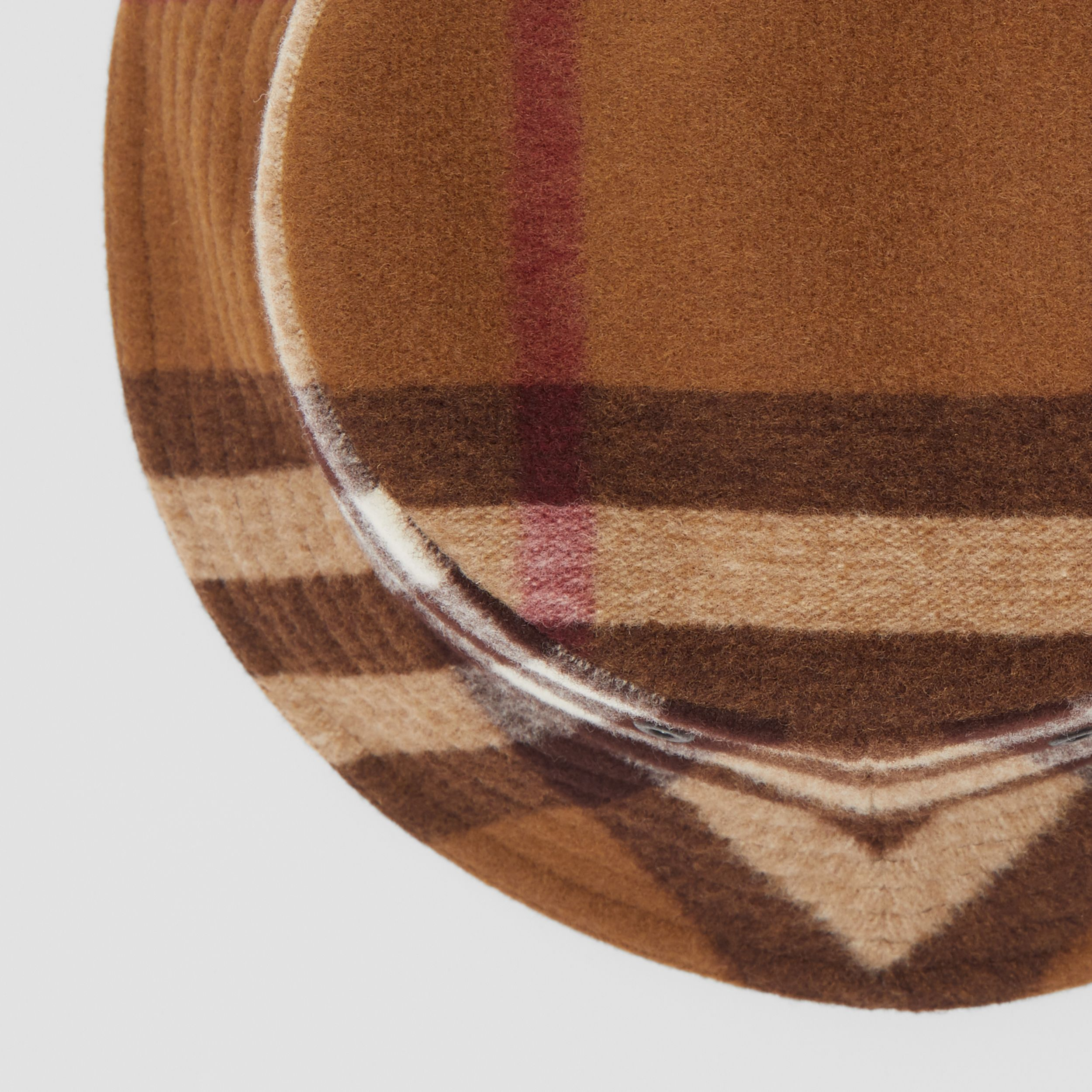 Check Wool Bucket Hat in Birch Brown | Burberry - 2