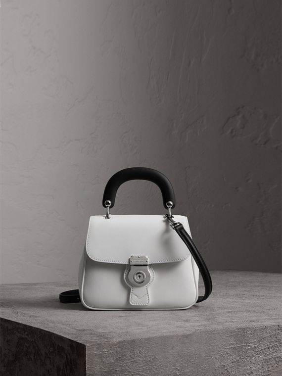 The Small DK88 Top Handle Bag in Chalk White