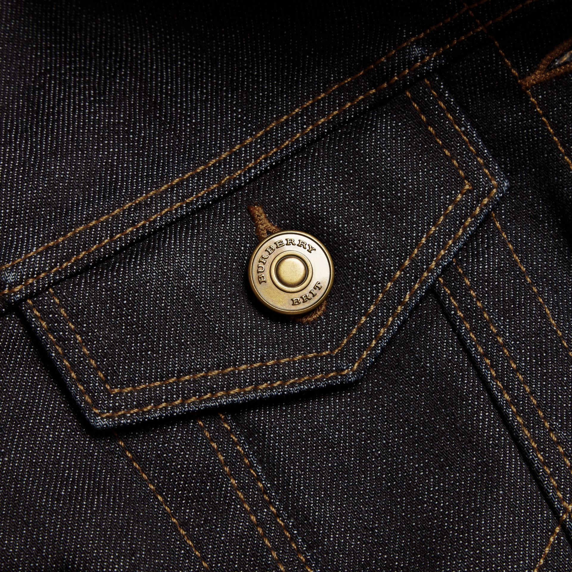 Indigo Japanese Stretch Selvedge Denim Jacket - gallery image 2