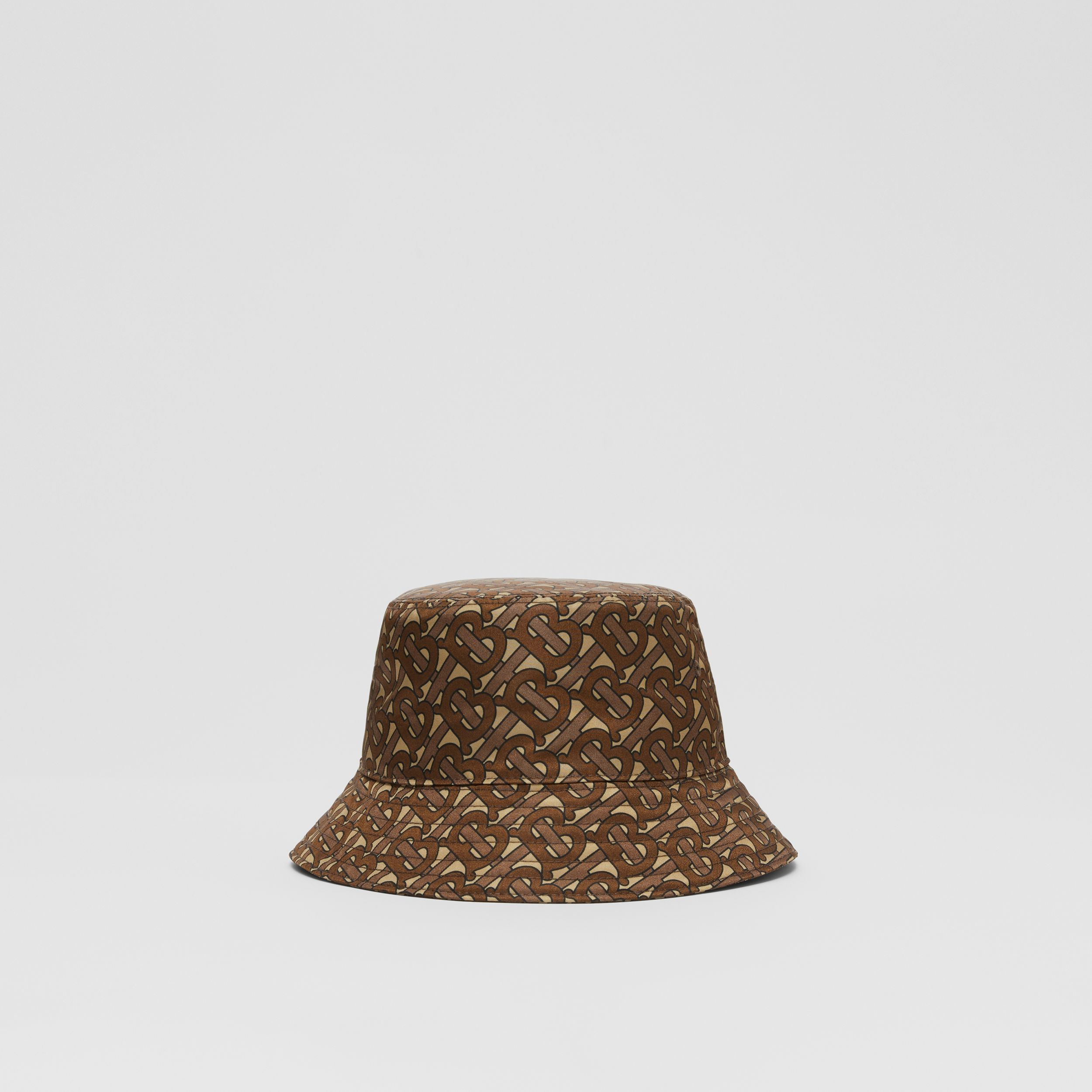 Monogram Print ECONYL® Bucket Hat in Bridle Brown | Burberry United Kingdom - 4