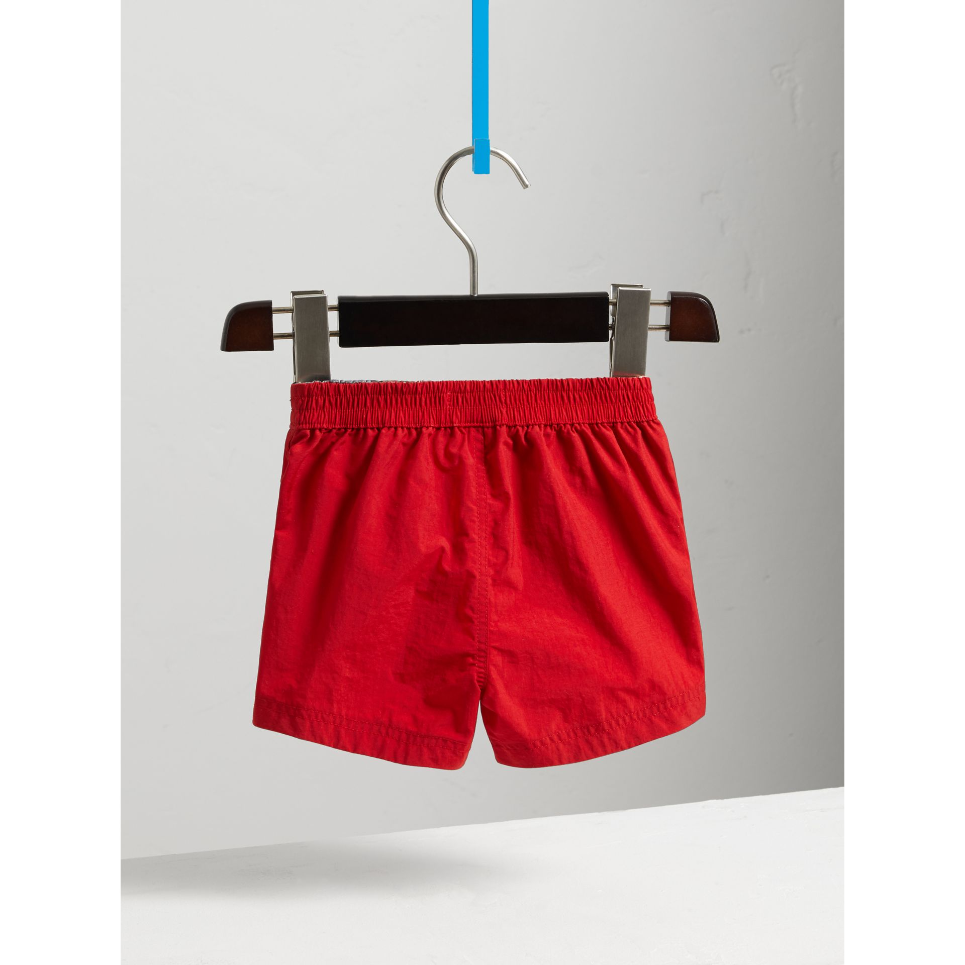 Quick-dry Swim Shorts in Military Red | Burberry Singapore - gallery image 3