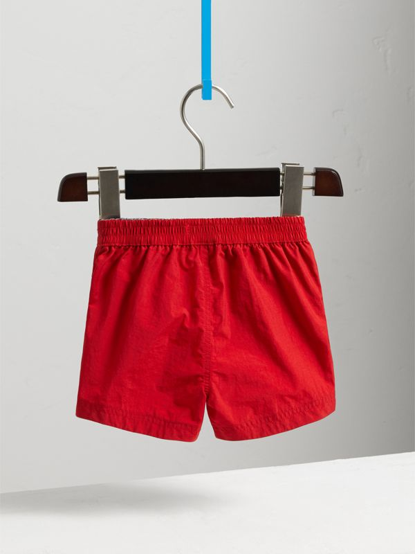 Quick-dry Swim Shorts in Military Red | Burberry United Kingdom - cell image 3