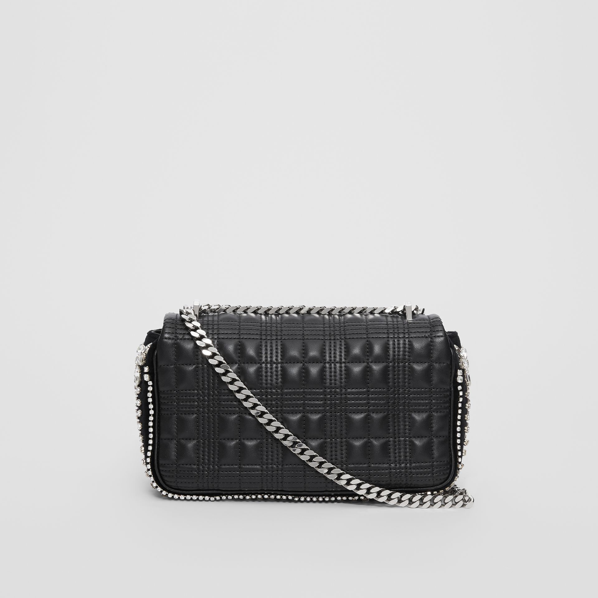 Small Crystal Detail Quilted Lambskin Lola Bag in Black - Women | Burberry - gallery image 4