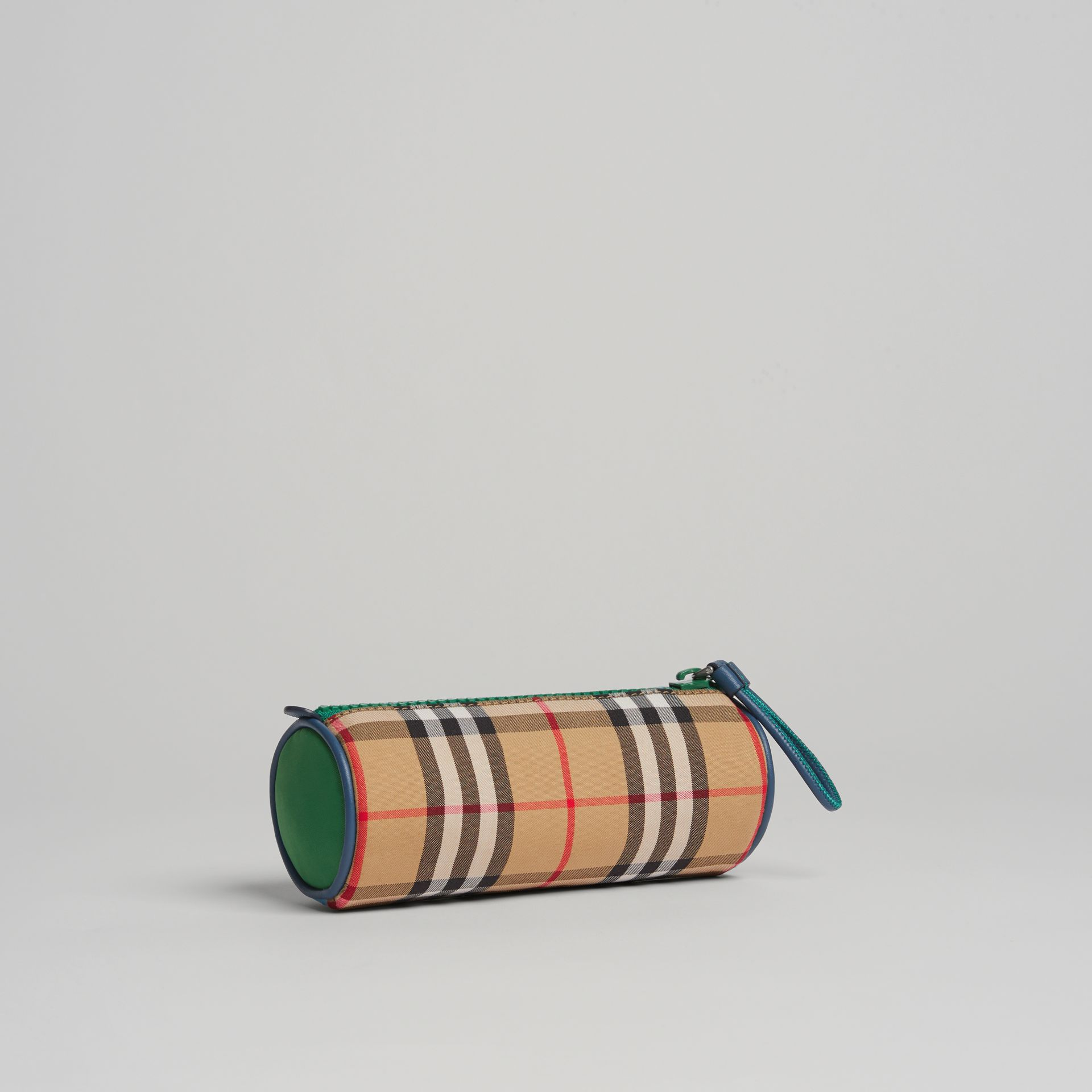 Vintage Check and Leather Pencil Case in Antique Yellow | Burberry United States - gallery image 0