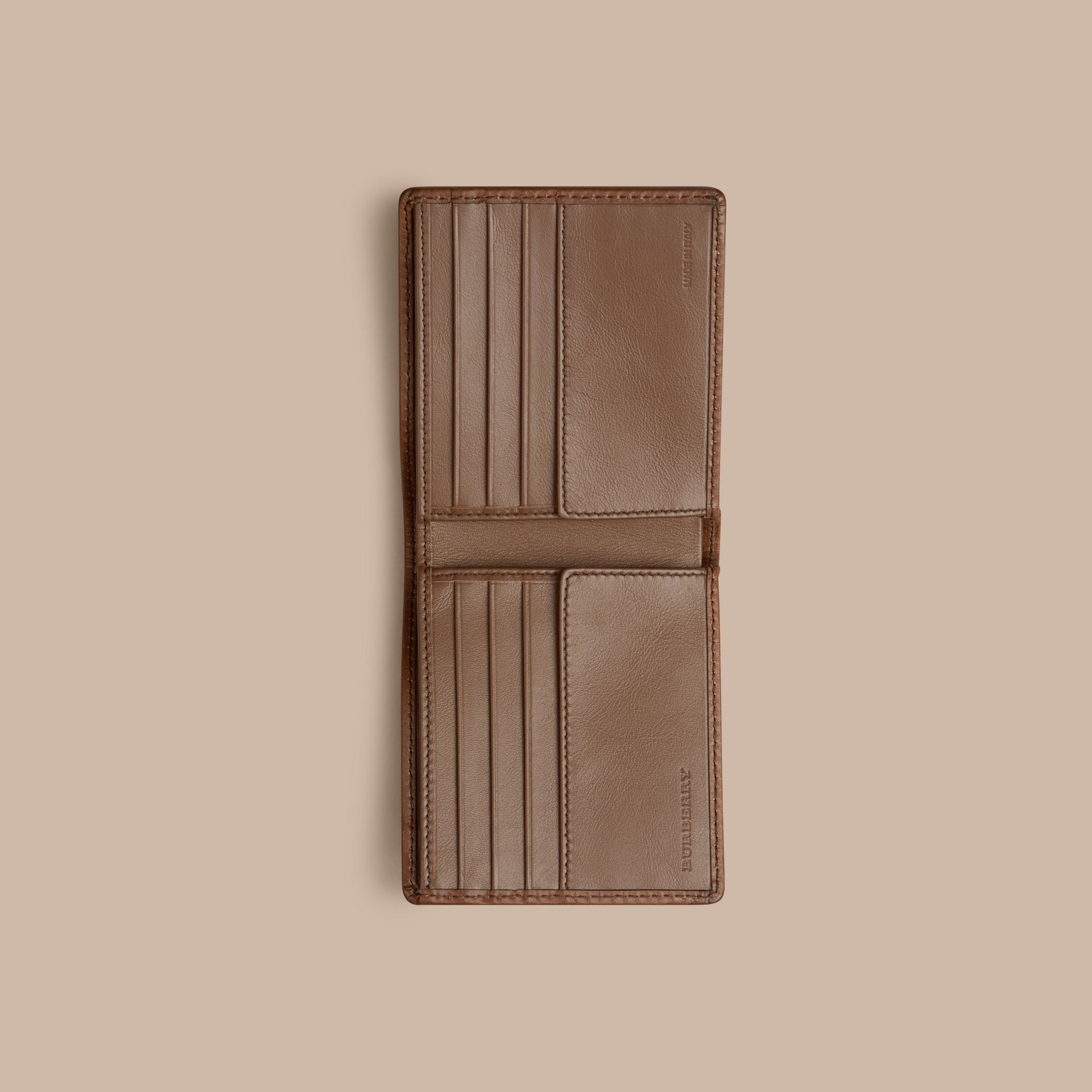 Horseferry Check Folding Wallet Tan - gallery image 4