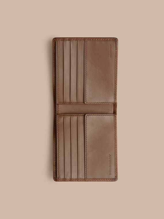 Horseferry Check Folding Wallet Tan - cell image 3