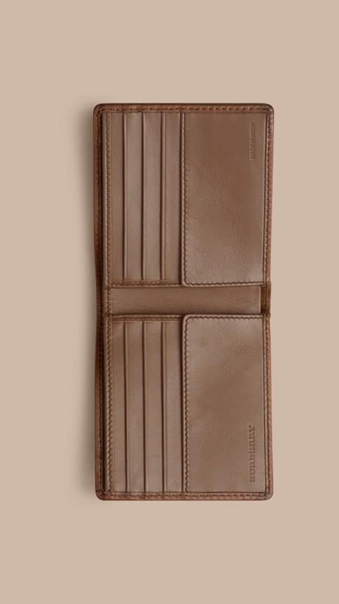 Tan Horseferry Check Folding Wallet Tan - Image 4