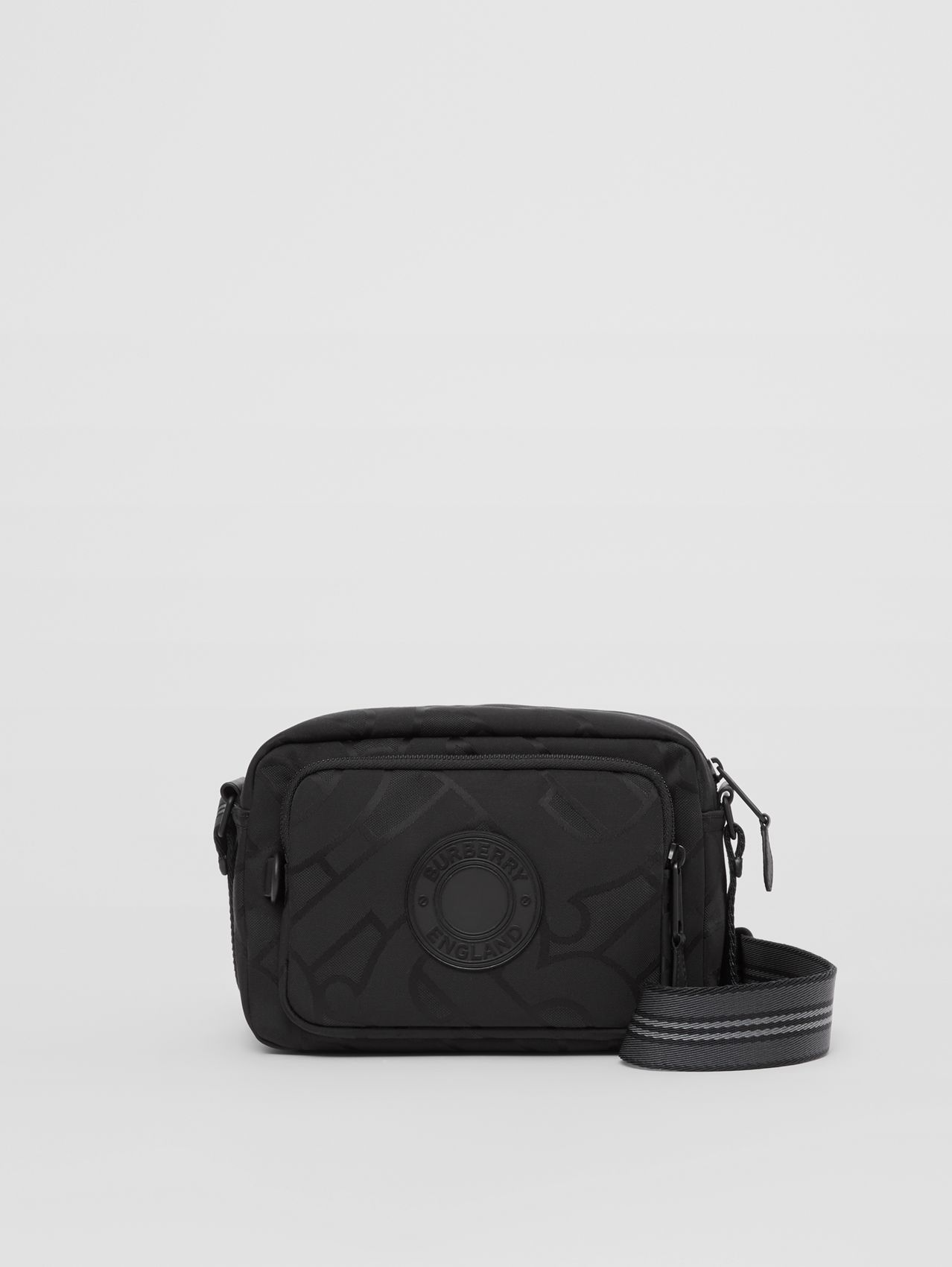 Monogram Recycled Polyester Crossbody Bag in Black
