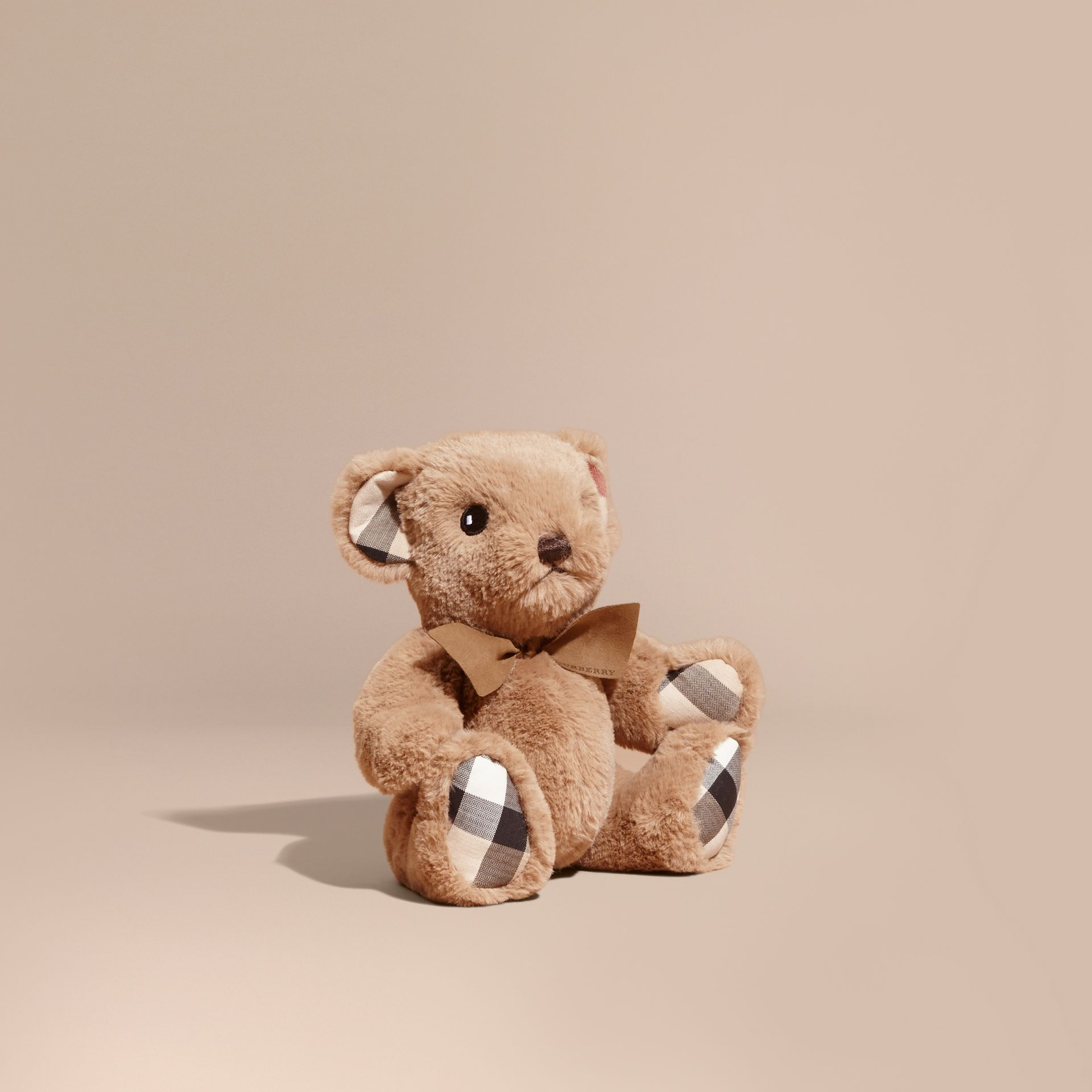 Thomas Baby Bear with Check Detail in Camel - Children | Burberry Australia - gallery image 1