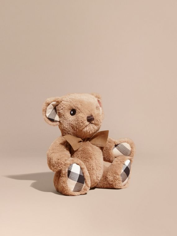 Thomas Baby Bear with Check Detail in Camel - Children | Burberry Australia