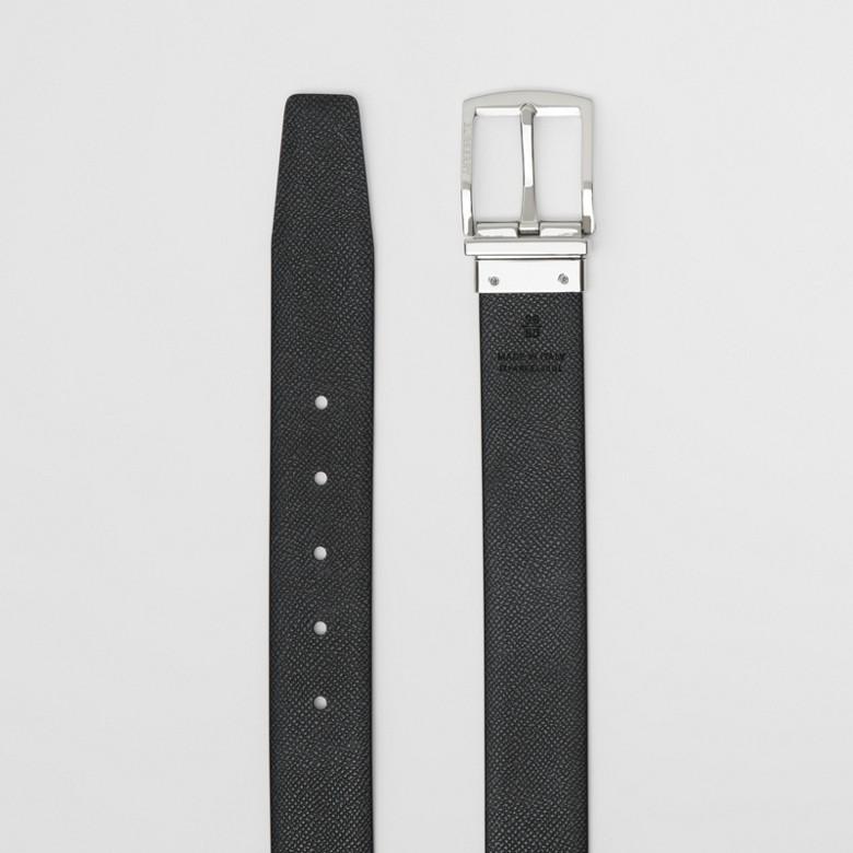 Burberry - Cinturón reversible en piel granulada - 9