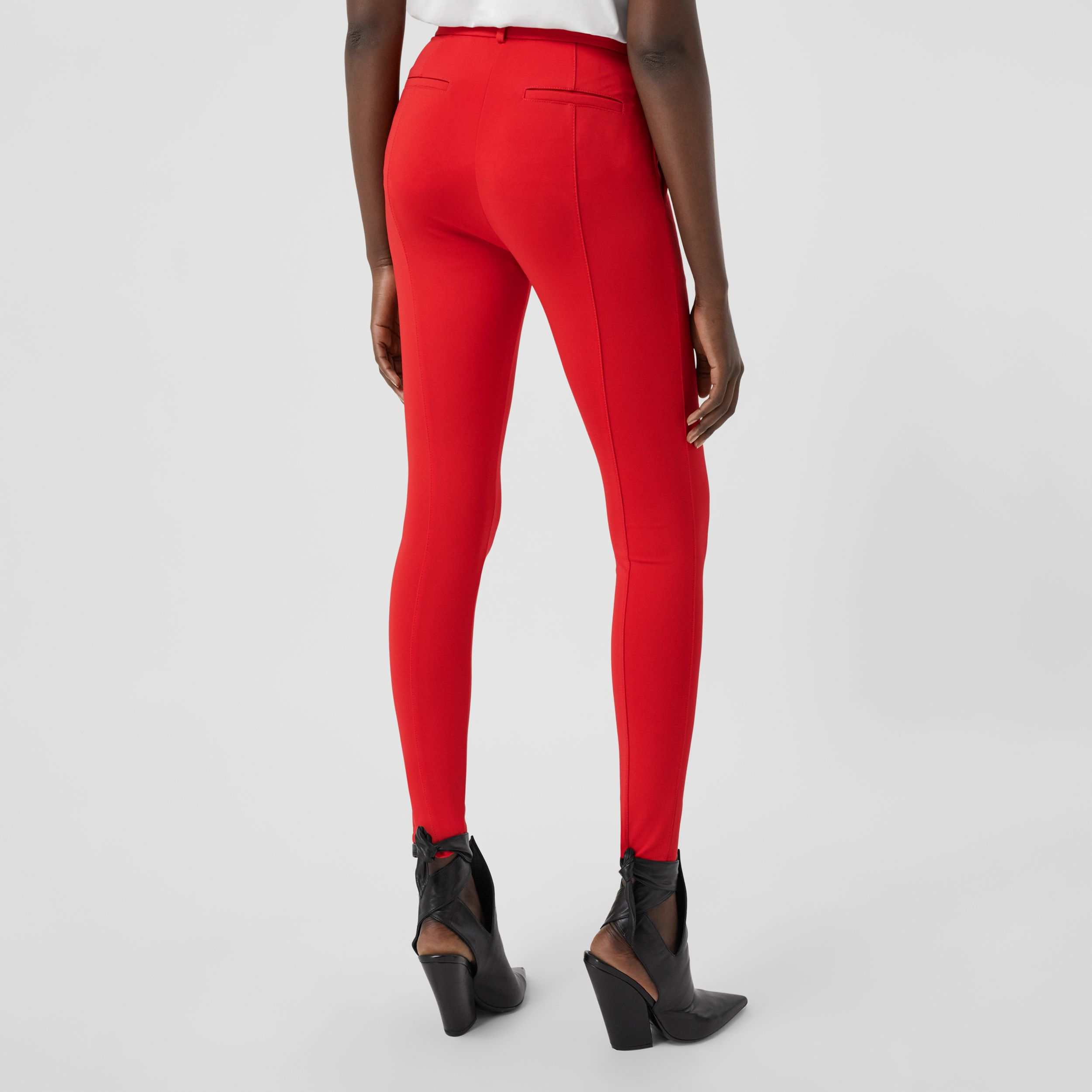 Stretch Jersey Jodhpurs in Bright Red - Women | Burberry - 2