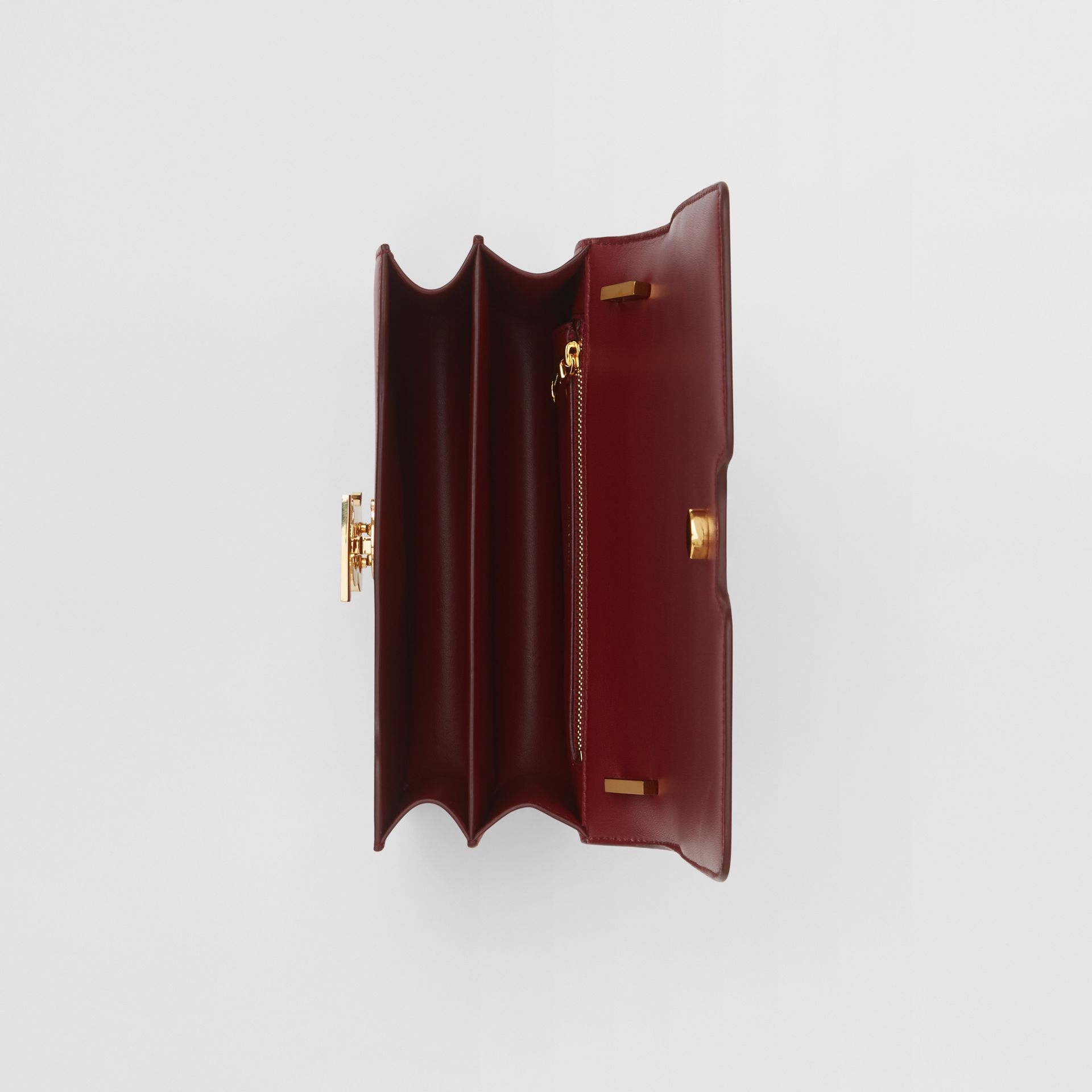 Small Leather TB Bag in Dark Crimson - Women   Burberry - gallery image 4