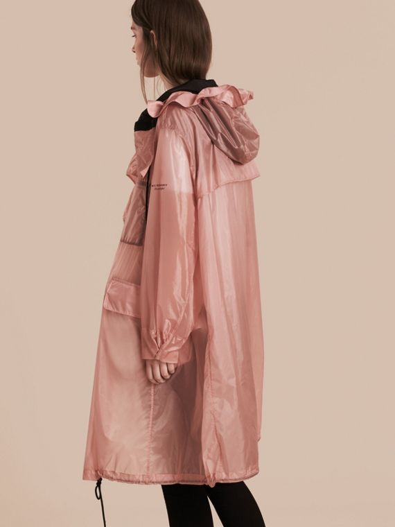 Hooded Lightweight Oversize Parka Ash Rose - cell image 2