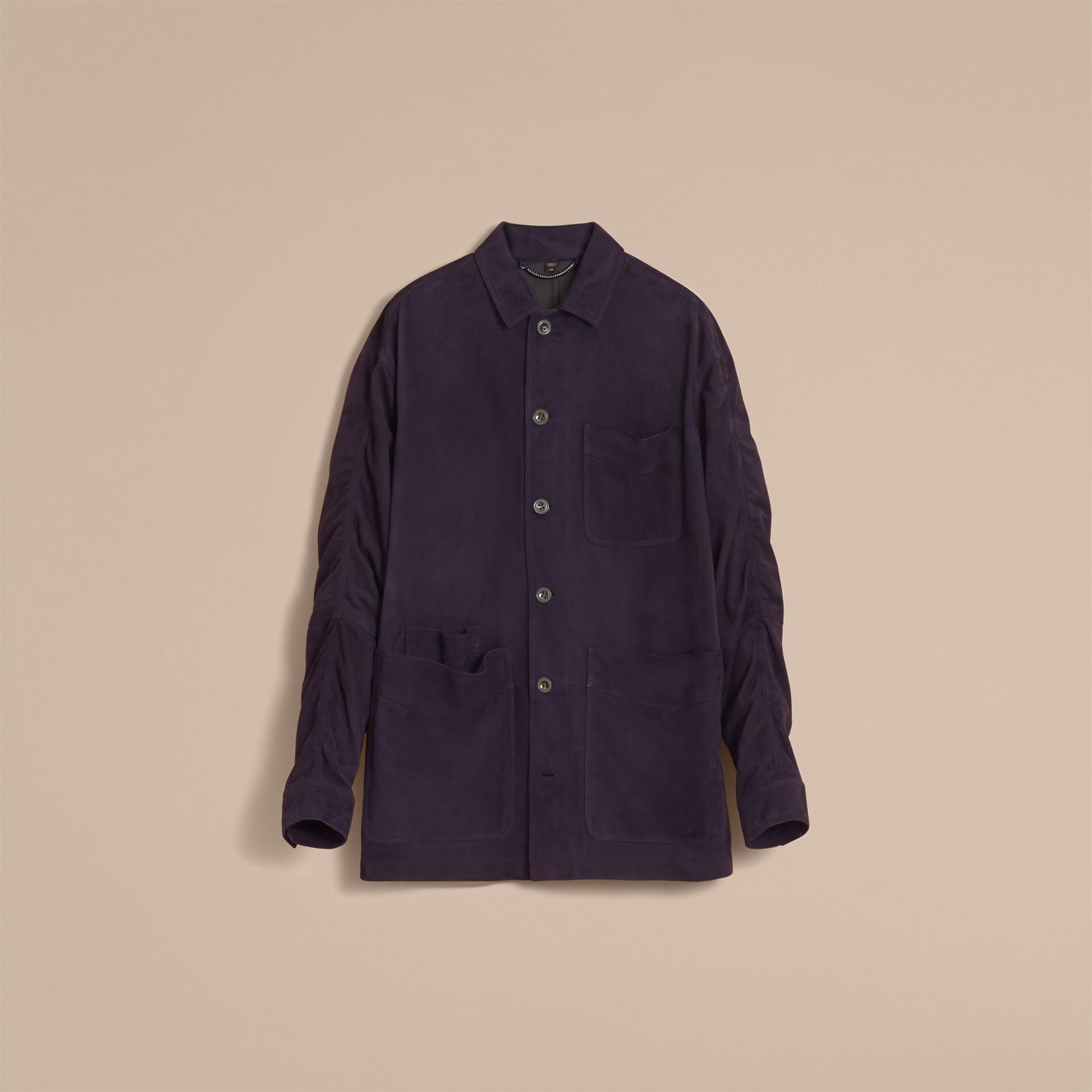 Suede Workwear Jacket - Men | Burberry - gallery image 4