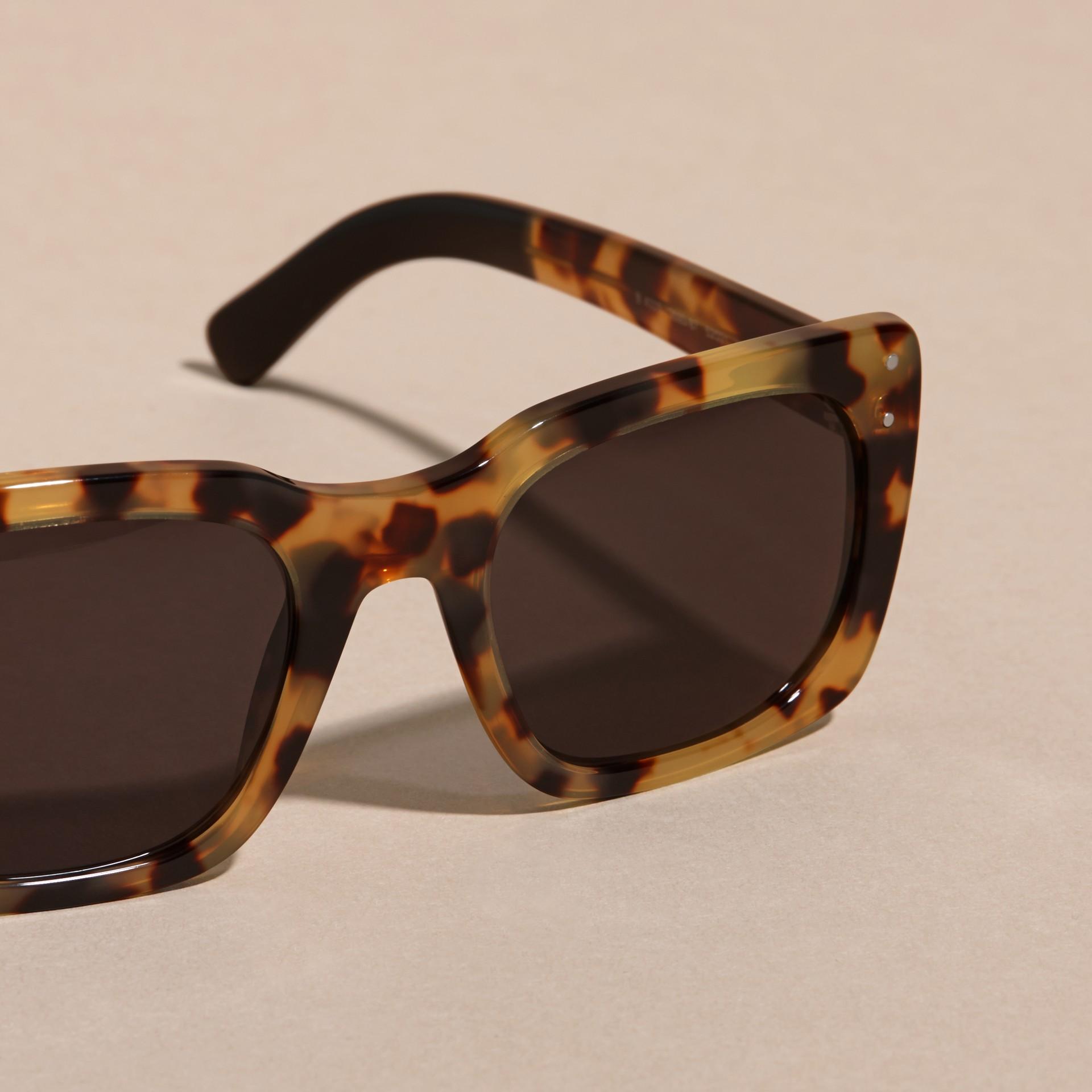 Tortoise amber Square Frame Sunglasses Tortoise Amber - gallery image 2