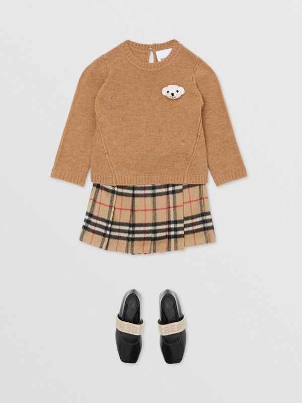 Thomas Bear Detail Wool Cashmere Sweater in Camel - Children | Burberry - cell image 2