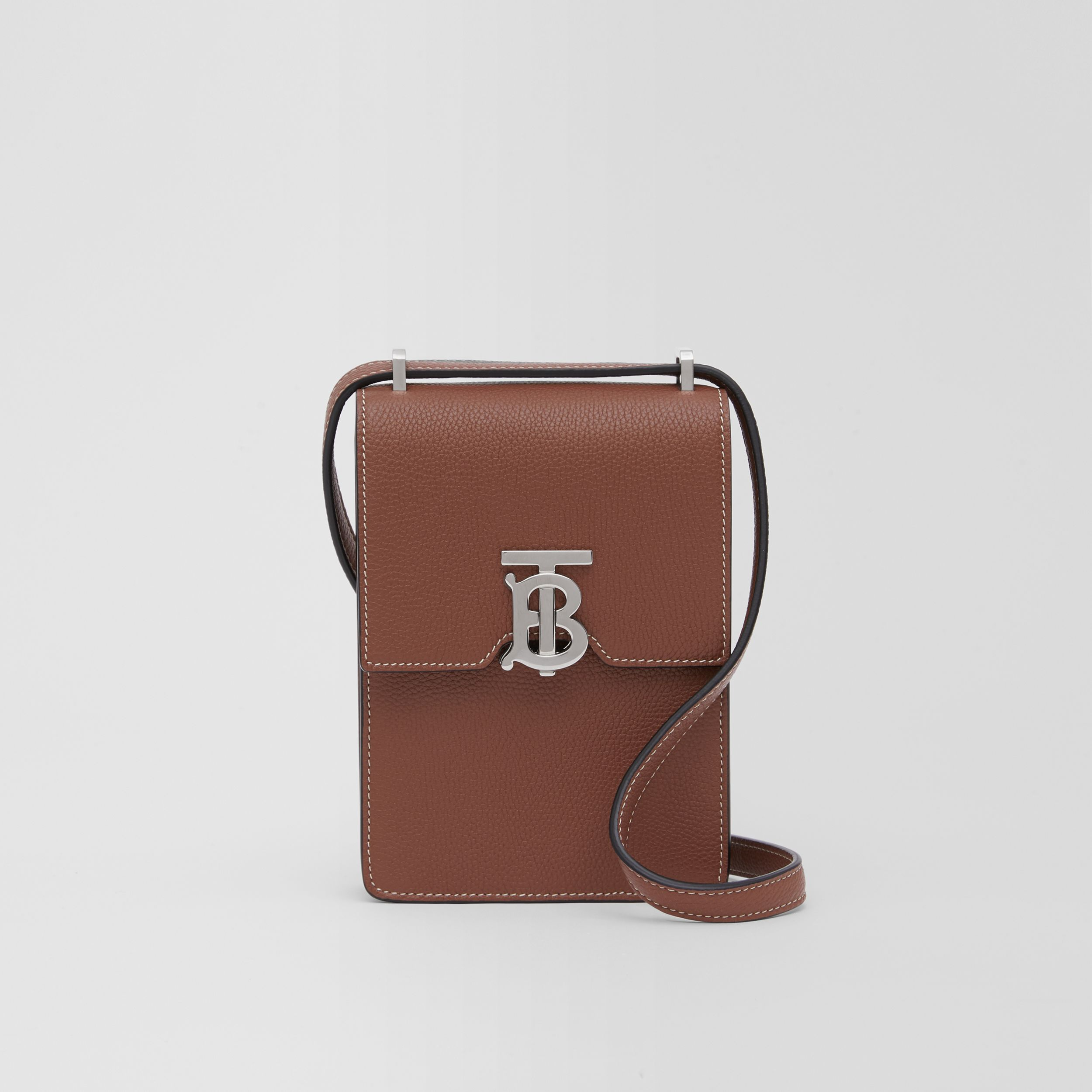 Grainy Leather Robin Bag in Tan | Burberry - 1