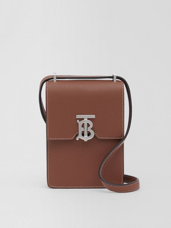 Grainy Leather Robin Bag in Tan