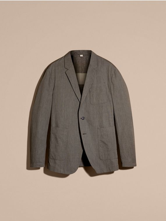 Dark grey Cotton Tailored Jacket - cell image 3
