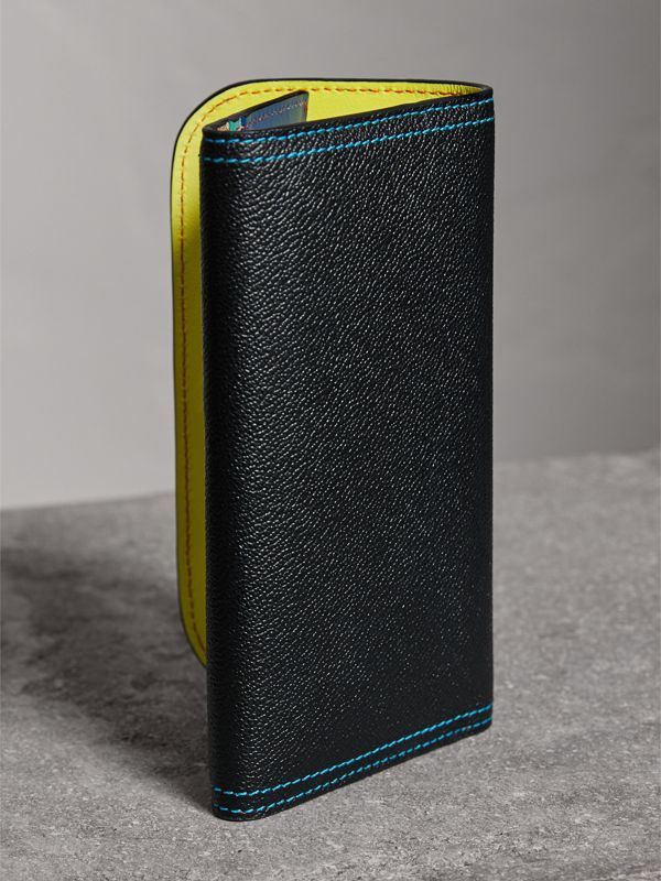 Colour Block Continental Wallet and Coin Case in Black/multicolour - Women | Burberry United Kingdom - cell image 2