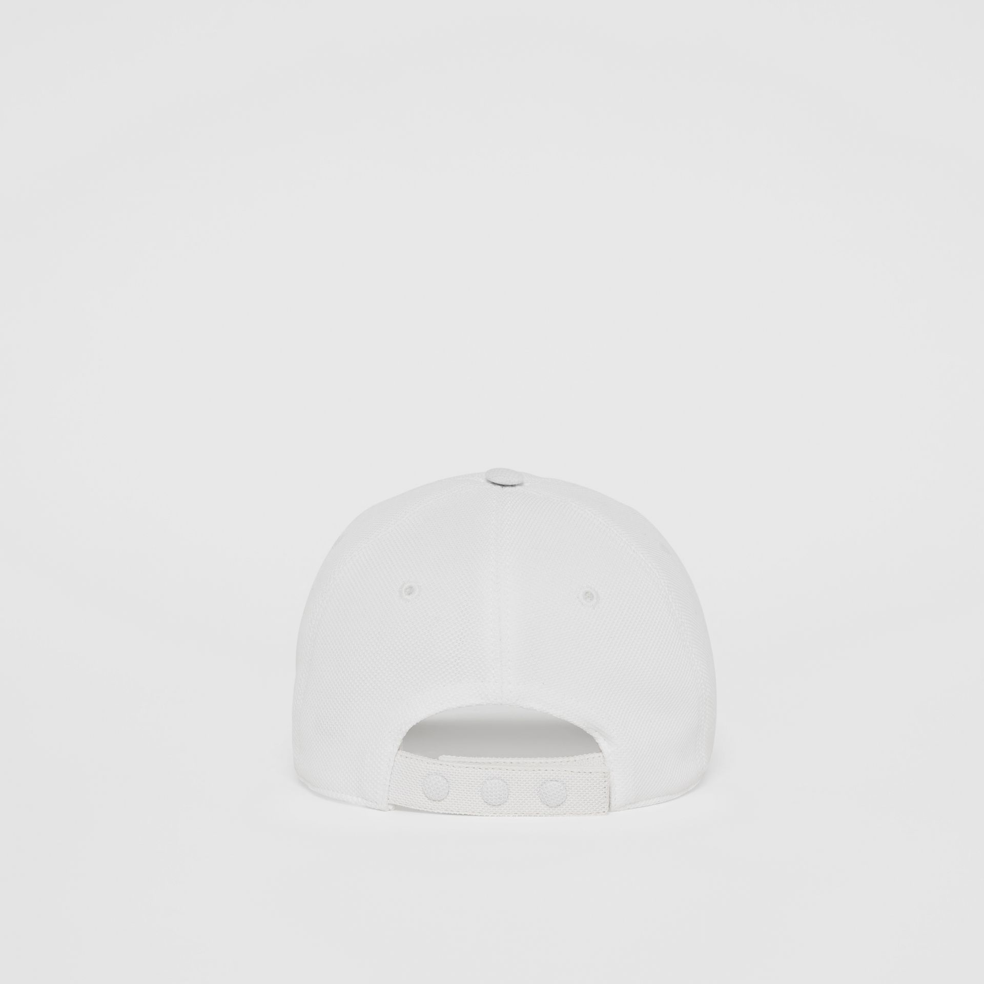 Monogram Motif Baseball Cap in White | Burberry - gallery image 6