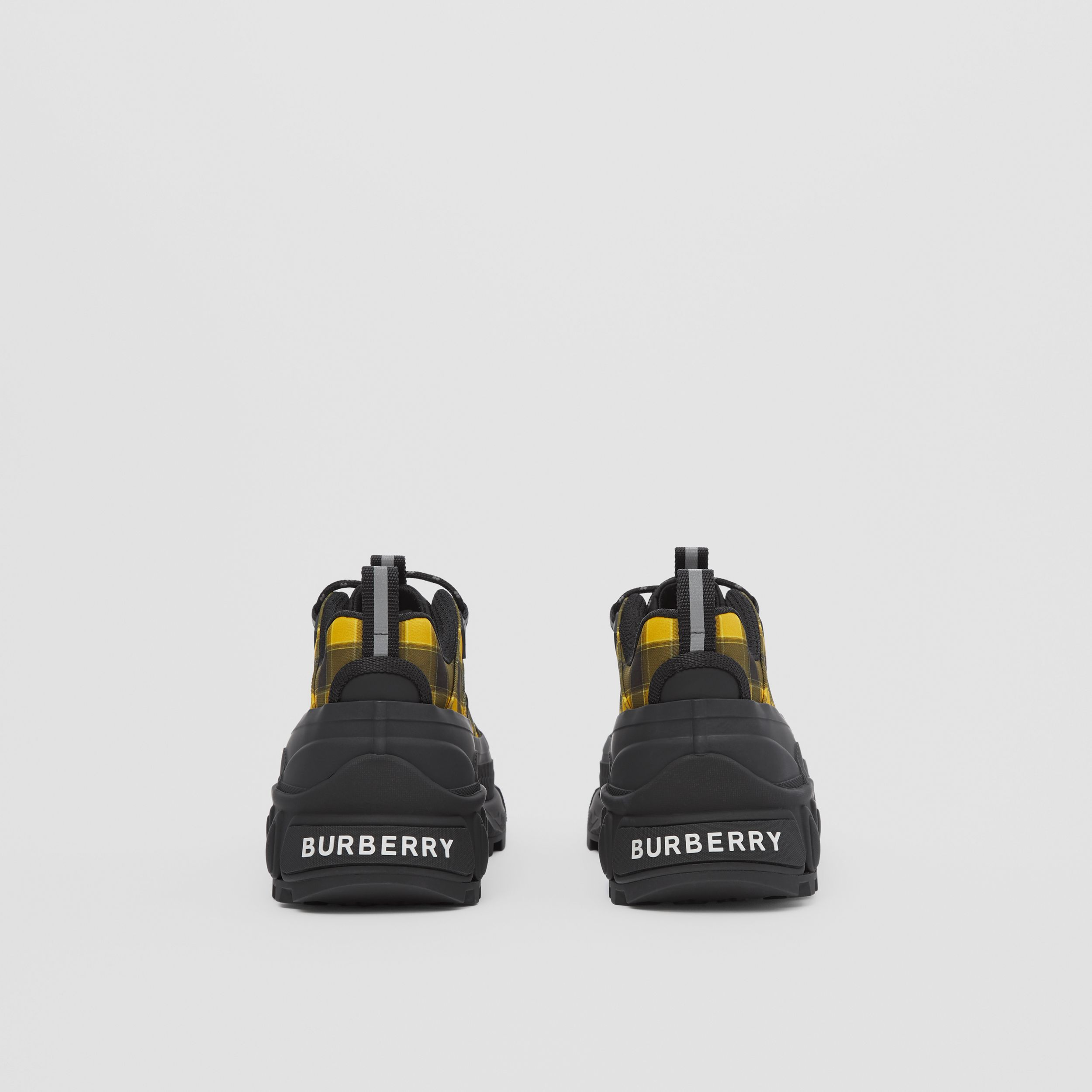 Check Technical Arthur Sneakers in Yellow | Burberry - 4