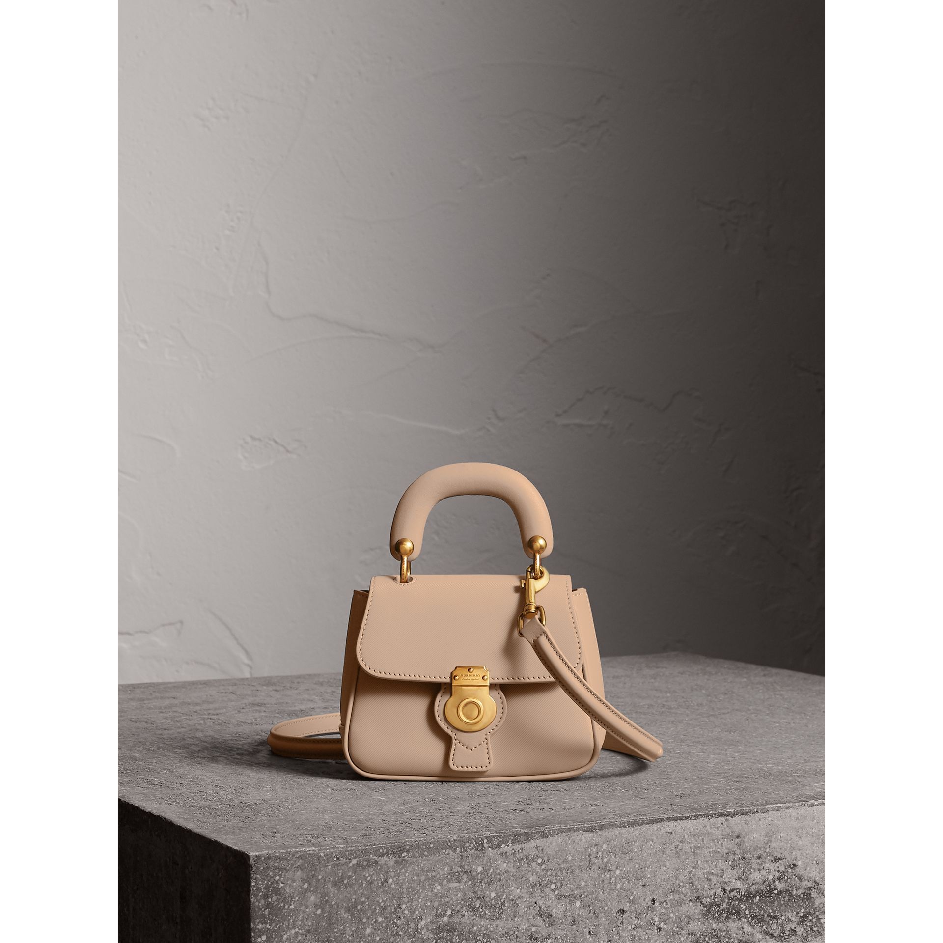 The Mini DK88 Top Handle Bag in Honey - Women | Burberry - gallery image 1