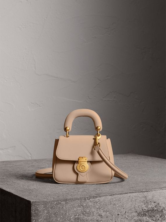 The Mini DK88 Top Handle Bag in Honey - Women | Burberry