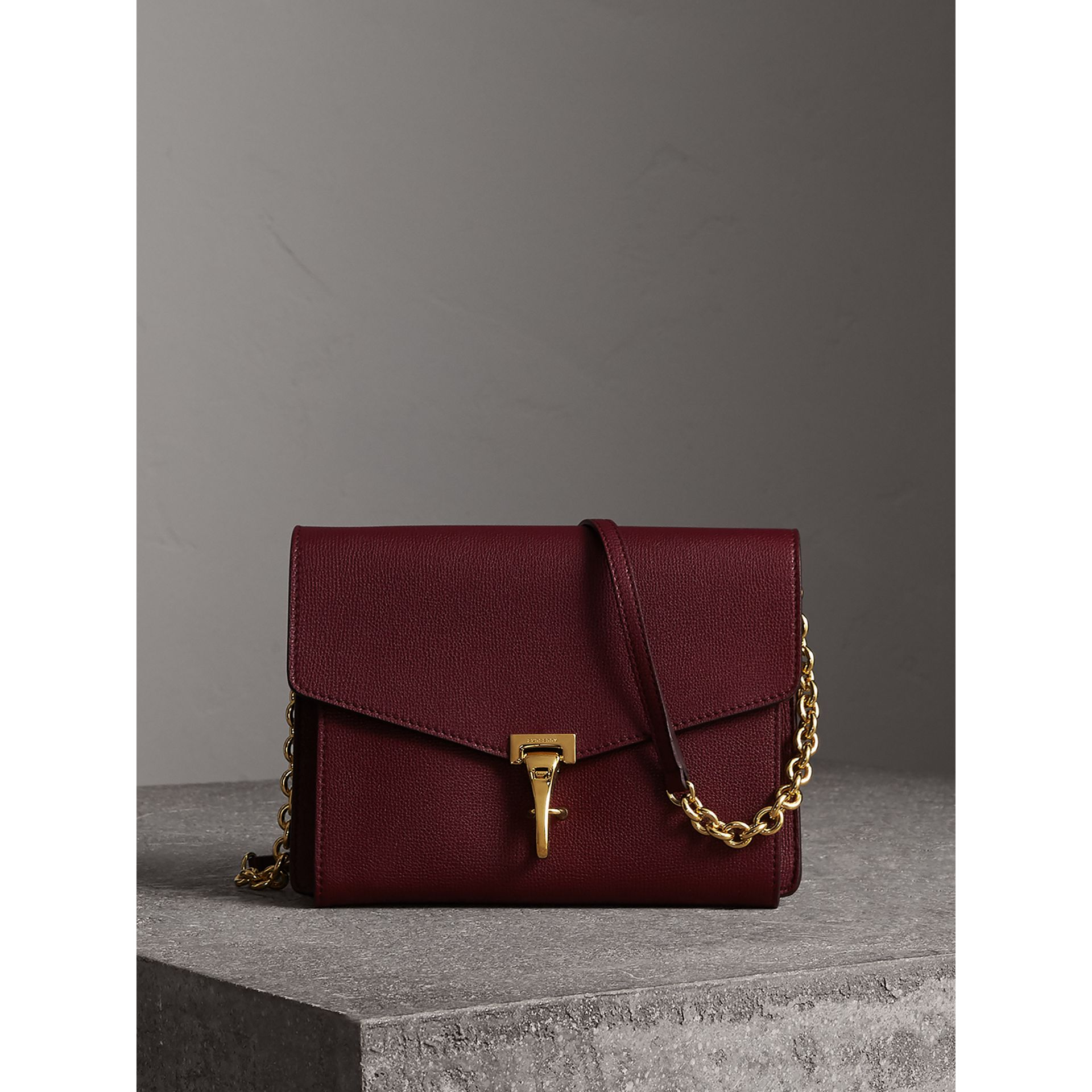 Small Leather Crossbody Bag in Mahogany Red - Women | Burberry Singapore - gallery image 0