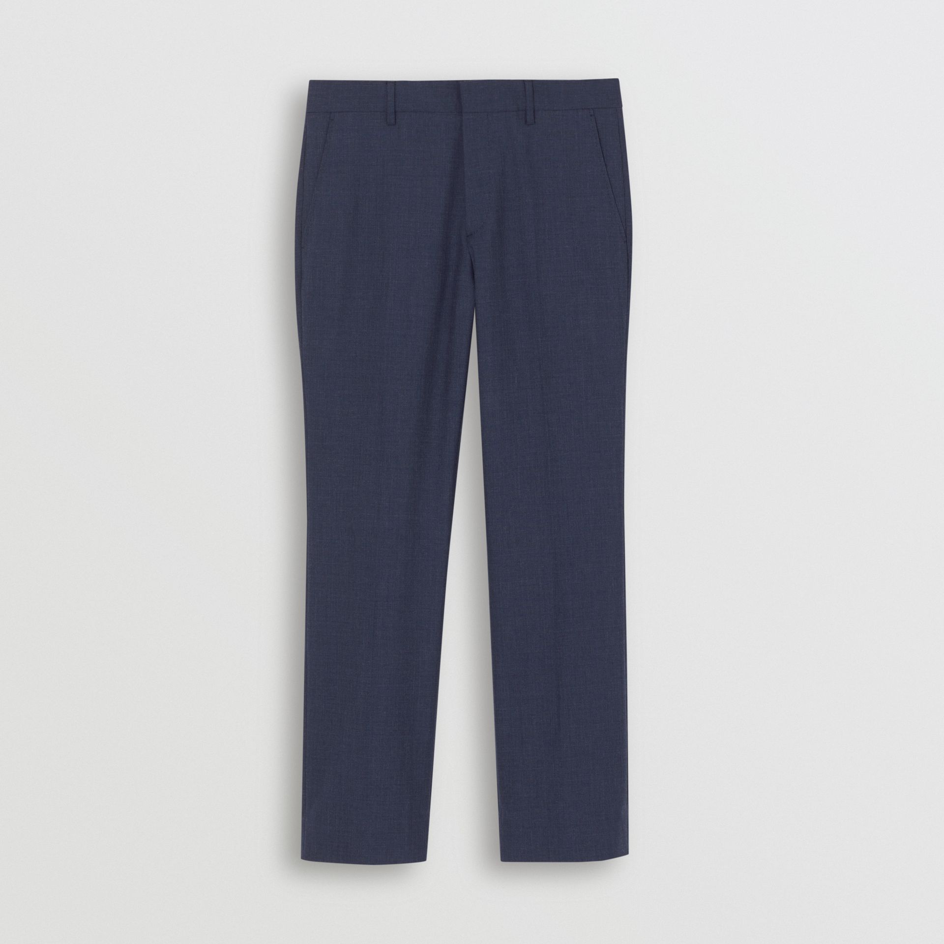 Classic Fit Wool Mohair Tailored Trousers in Steel Blue Melange - Men | Burberry United States - gallery image 2