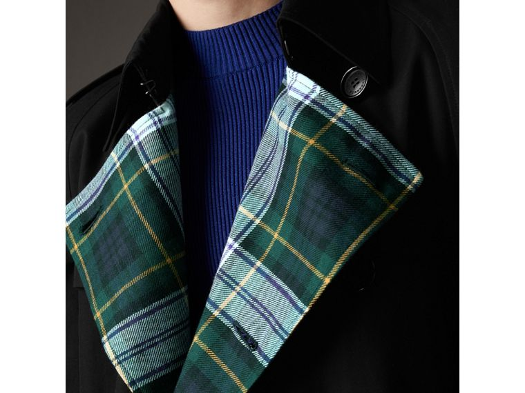Tartan-lined Cotton Gabardine Trench Coat in Black - Men | Burberry United Kingdom - cell image 4
