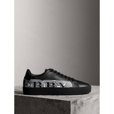 Printed leather sneakers Burberry GWceJPch9