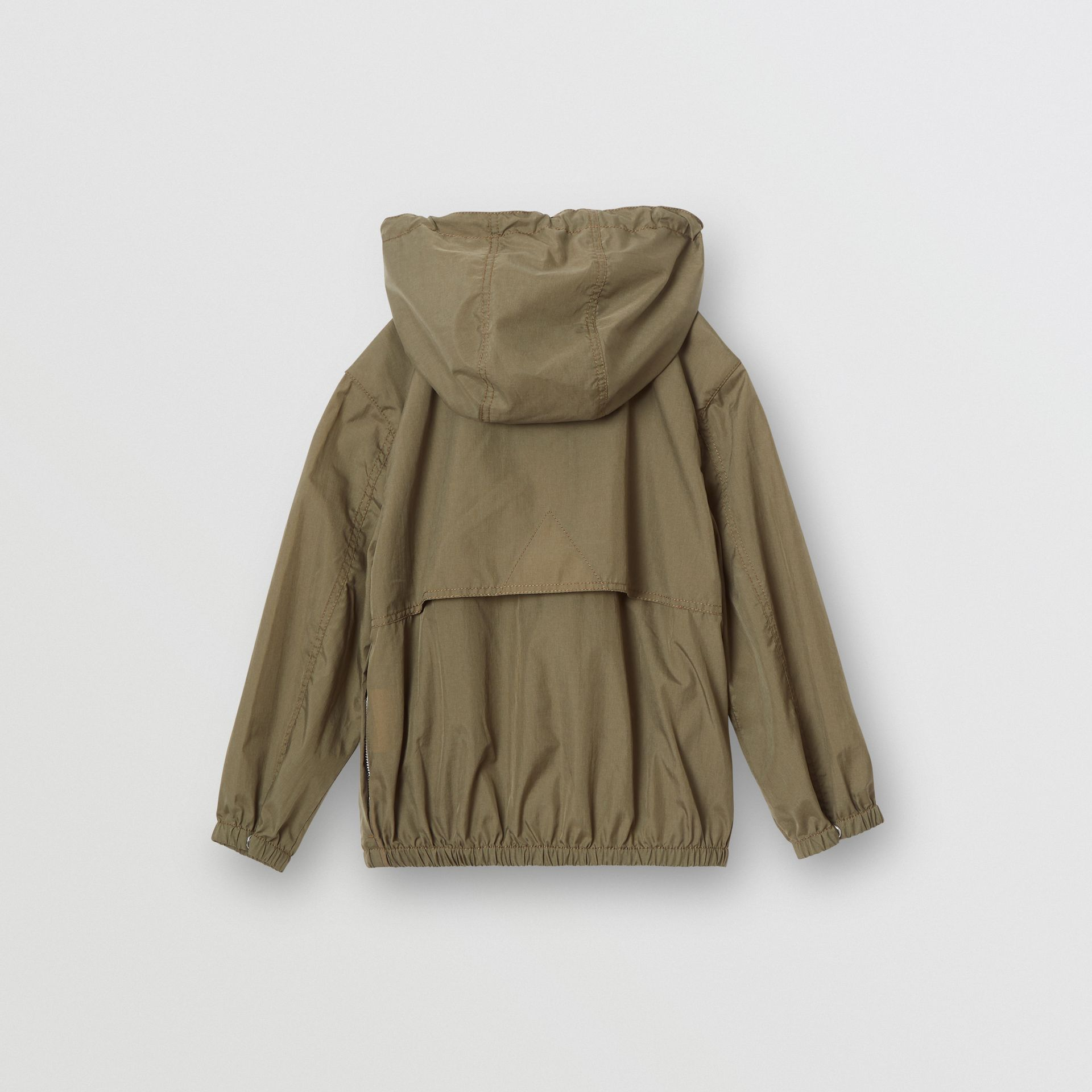 Logo Print Lightweight Hooded Jacket in Military Green | Burberry - gallery image 4