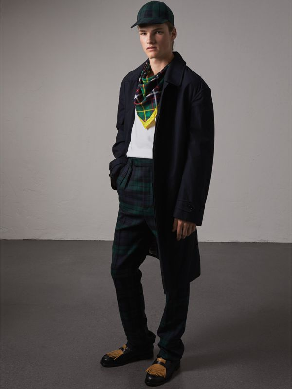 The Burberry Bandana in Check Silk in Racing Green | Burberry - cell image 2