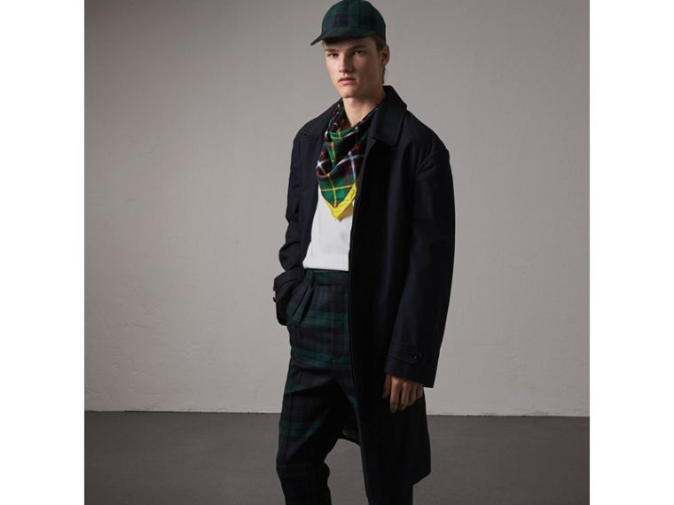 The Burberry Bandana in Check Silk in Racing Green | Burberry Australia - cell image 2
