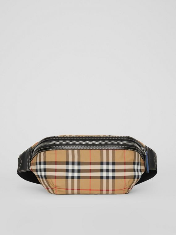 Medium Vintage Check Bum Bag in Antique Yellow