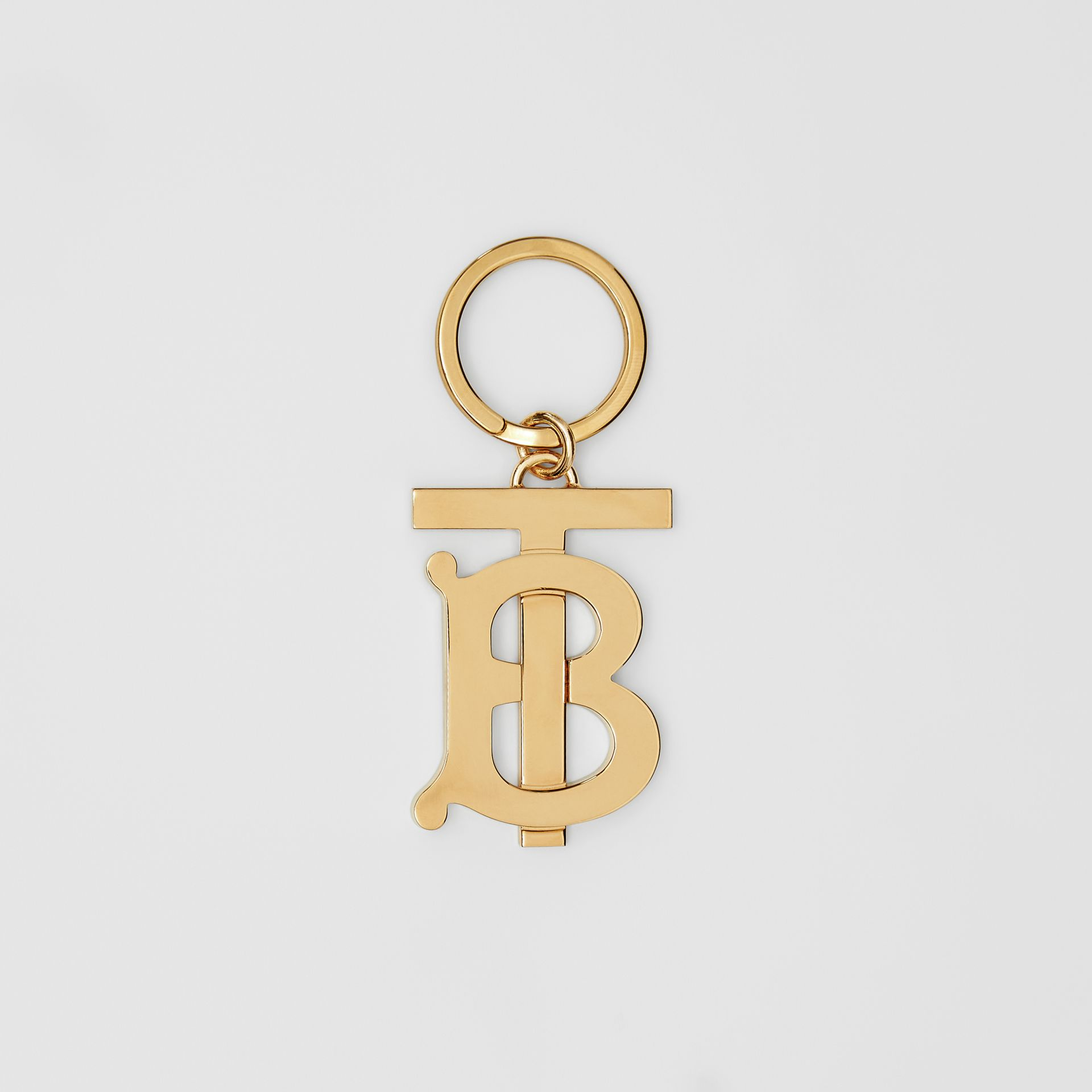 Monogram Motif Gold-plated Key Ring - Men | Burberry - gallery image 0