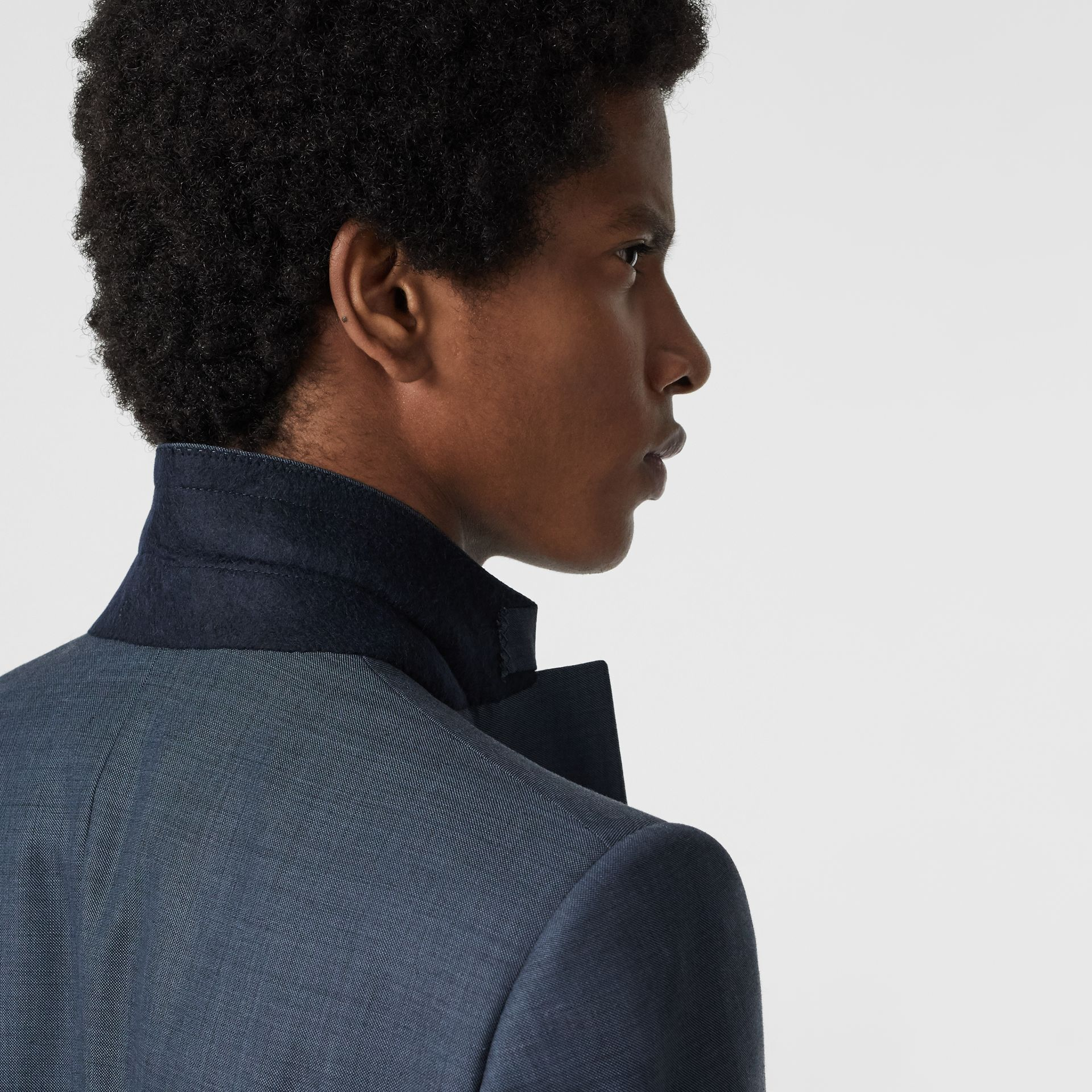 Classic Fit Wool Mohair Silk Suit in Steel Blue - Men | Burberry United Kingdom - gallery image 5