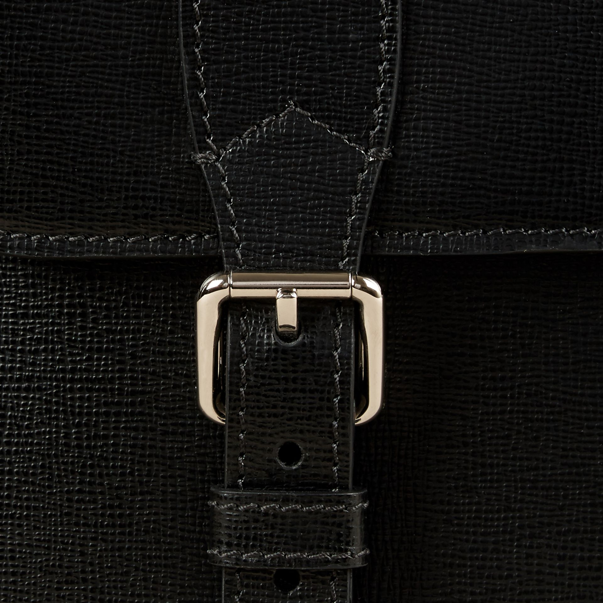 Black London Leather Briefcase - gallery image 6