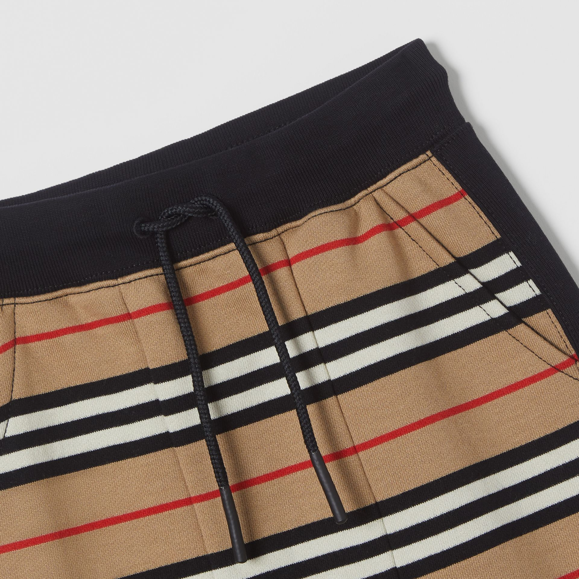 Icon Stripe Cotton Trackpants in Archive Beige | Burberry - gallery image 1