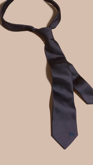 Modern Cut Patterned Silk Tie