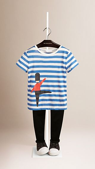 Grenadier Print Striped Cotton T-shirt
