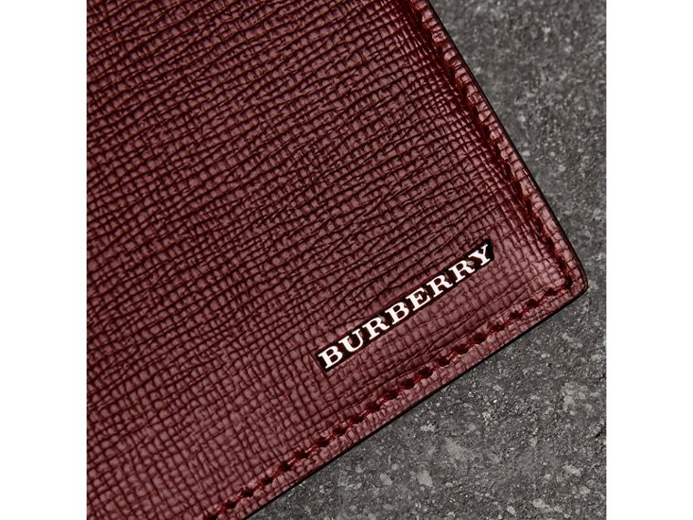 London Leather Bifold Wallet in Burgundy Red - Men | Burberry United States - cell image 1