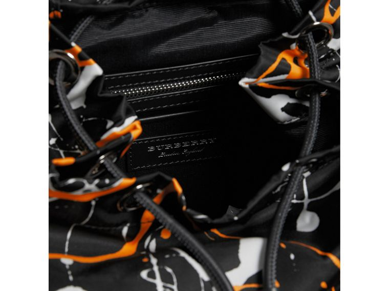 The Medium Rucksack in Splash Print in Black - Women | Burberry - cell image 4