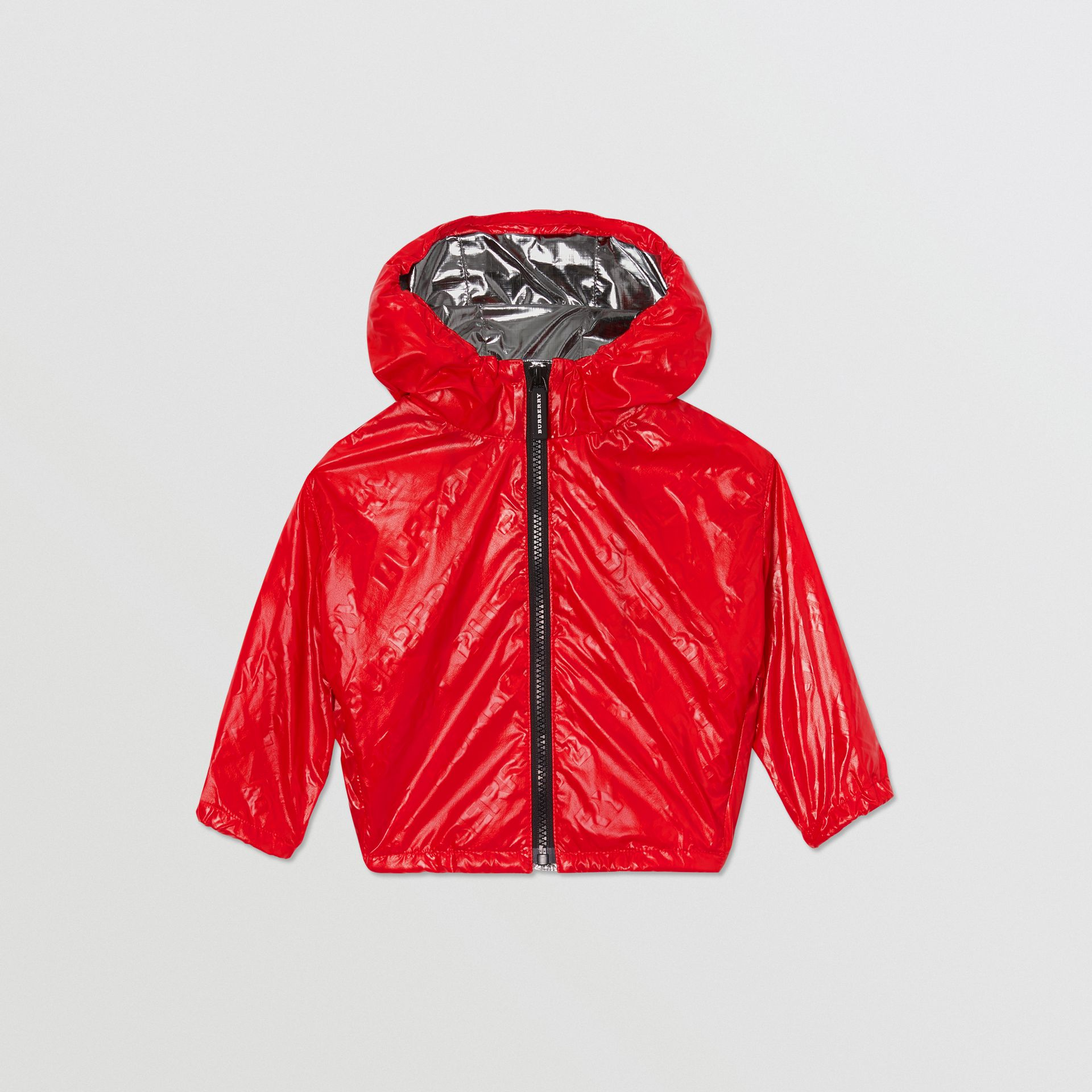 Logo Print Lightweight Hooded Jacket in Bright Red - Children | Burberry United States - gallery image 0